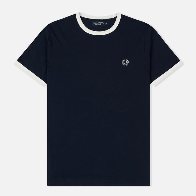 Мужская футболка Fred Perry Ringer Crew Neck Carbon Blue