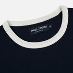 Мужская футболка Fred Perry Ringer Crew Neck Carbon Blue фото- 1