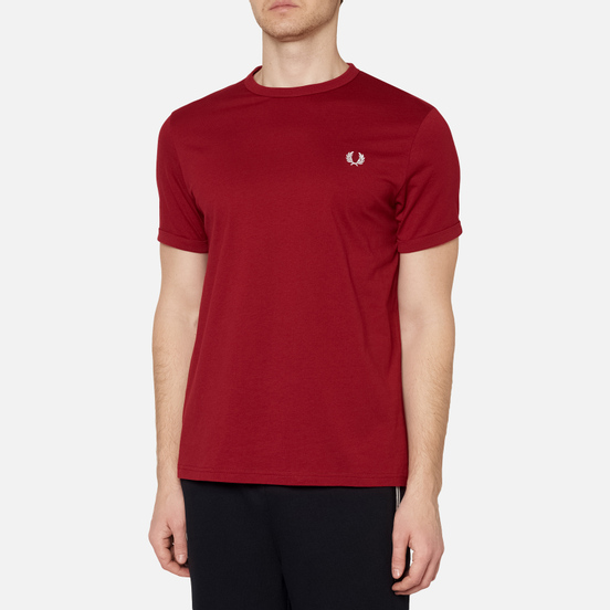 Мужская футболка Fred Perry Ringer Rosso