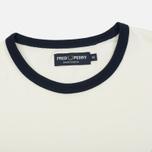Мужская футболка Fred Perry Ringer Snow White фото- 1