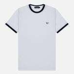 Мужская футболка Fred Perry Ringer White фото- 0