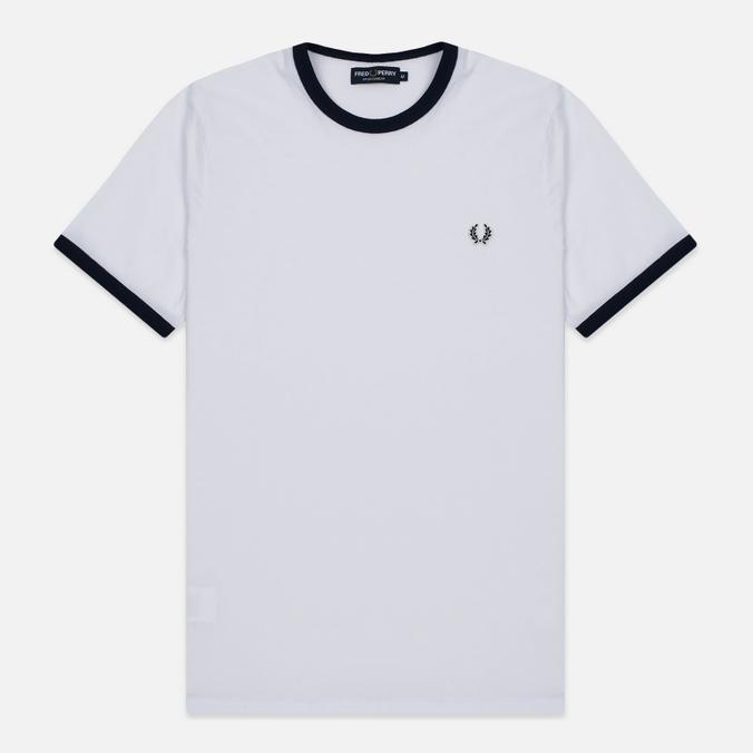 Мужская футболка Fred Perry Ringer White