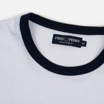 Мужская футболка Fred Perry Ringer White фото- 1