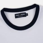 Мужская футболка Fred Perry Ringer White фото- 2