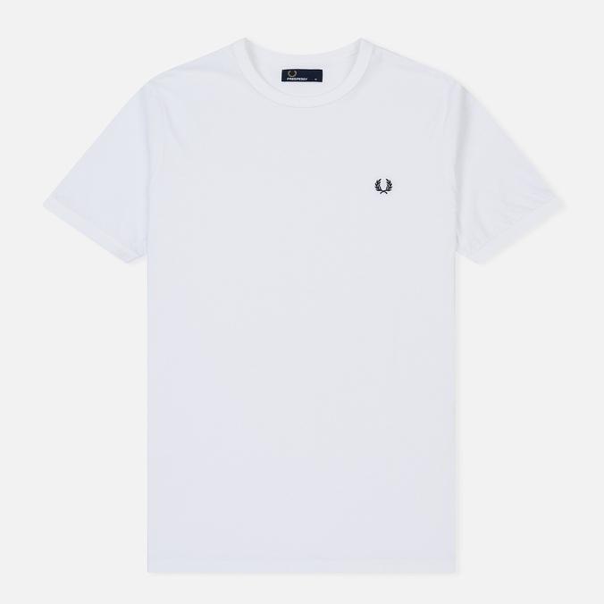 Мужская футболка Fred Perry Ringer White/White