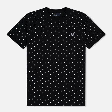 Fred Perry Shadow Polka Dot Men's T-Shirt Black