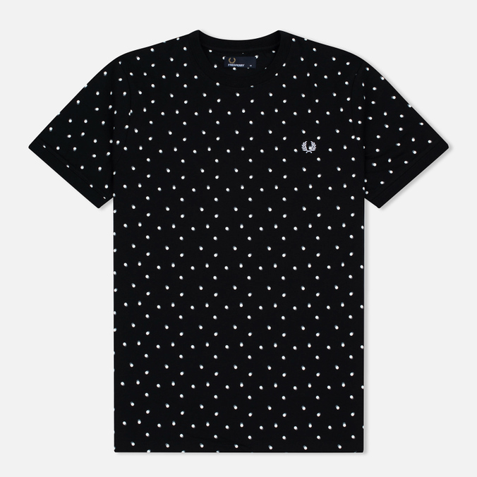 Мужская футболка Fred Perry Shadow Polka Dot Black