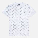 Мужская футболка Fred Perry Shadow Polka Dot White фото- 0