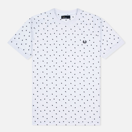Fred Perry Shadow Polka Dot Men's T-Shirt White