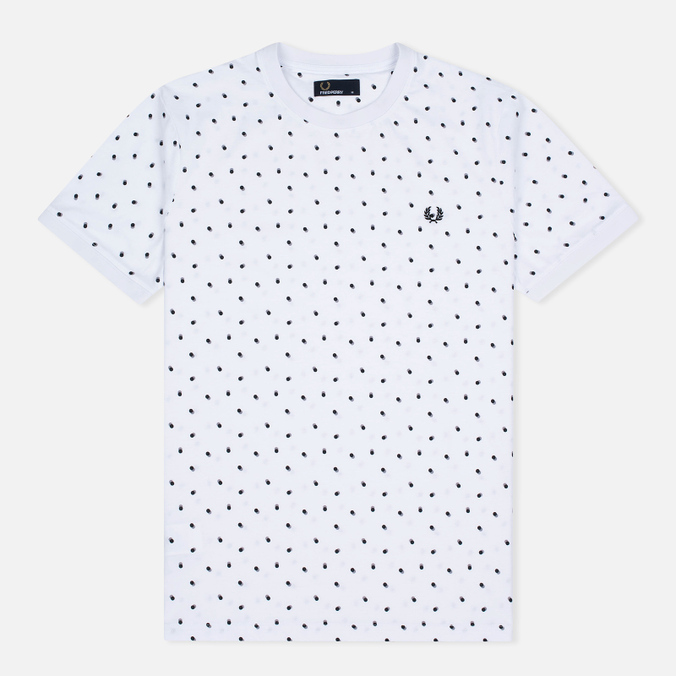 Мужская футболка Fred Perry Shadow Polka Dot White