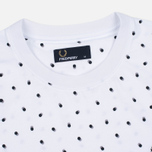Мужская футболка Fred Perry Shadow Polka Dot White фото- 1