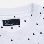 Мужская футболка Fred Perry Shadow Polka Dot White фото- 2