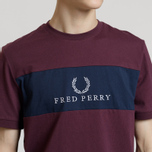 Мужская футболка Fred Perry Sports Authentic Panel Embroidered Mahogany фото- 3