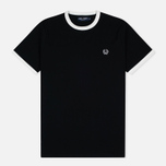 Мужская футболка Fred Perry Sports Authentic Ringer Black фото- 0