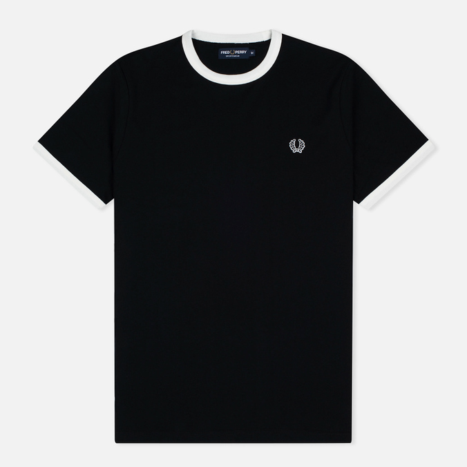 Мужская футболка Fred Perry Sports Authentic Ringer Black