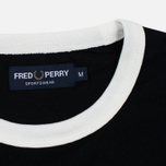 Мужская футболка Fred Perry Sports Authentic Ringer Black фото- 2