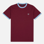 Мужская футболка Fred Perry Sports Authentic Ringer Maroon фото- 0