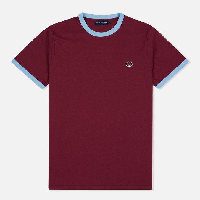 Мужская футболка Fred Perry Sports Authentic Ringer Maroon