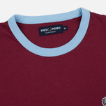 Мужская футболка Fred Perry Sports Authentic Ringer Maroon фото- 1