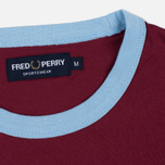 Мужская футболка Fred Perry Sports Authentic Ringer Maroon фото- 2