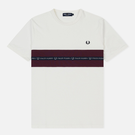Мужская футболка Fred Perry Sports Tape Snow White