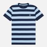Мужская футболка Fred Perry Stripe Ringer Carbon Blue фото- 0