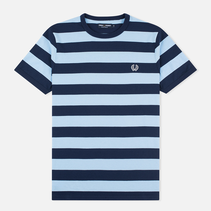 Мужская футболка Fred Perry Stripe Ringer Carbon Blue