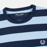 Мужская футболка Fred Perry Stripe Ringer Carbon Blue фото- 1