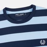 Мужская футболка Fred Perry Stripe Ringer Carbon Blue фото- 1