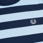 Мужская футболка Fred Perry Stripe Ringer Carbon Blue фото- 2
