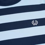 Мужская футболка Fred Perry Stripe Ringer Carbon Blue фото- 2