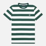 Мужская футболка Fred Perry Striped Ringer Ivy фото- 0