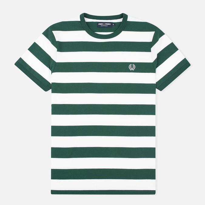 Мужская футболка Fred Perry Striped Ringer Ivy