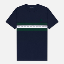 Мужская футболка Fred Perry Taped Chest Carbon Blue фото- 0