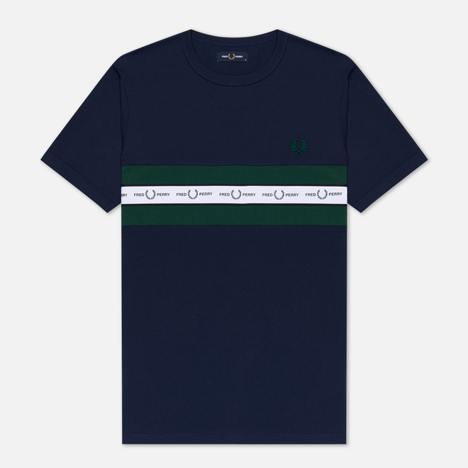 Мужская футболка Fred Perry Taped Chest Carbon Blue