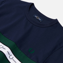 Мужская футболка Fred Perry Taped Chest Carbon Blue фото- 1