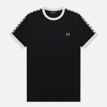 Мужская футболка Fred Perry Taped Ringer Black/White фото- 0