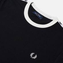 Мужская футболка Fred Perry Taped Ringer Black/White фото- 1