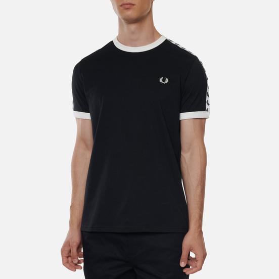 Мужская футболка Fred Perry Taped Ringer Black/White