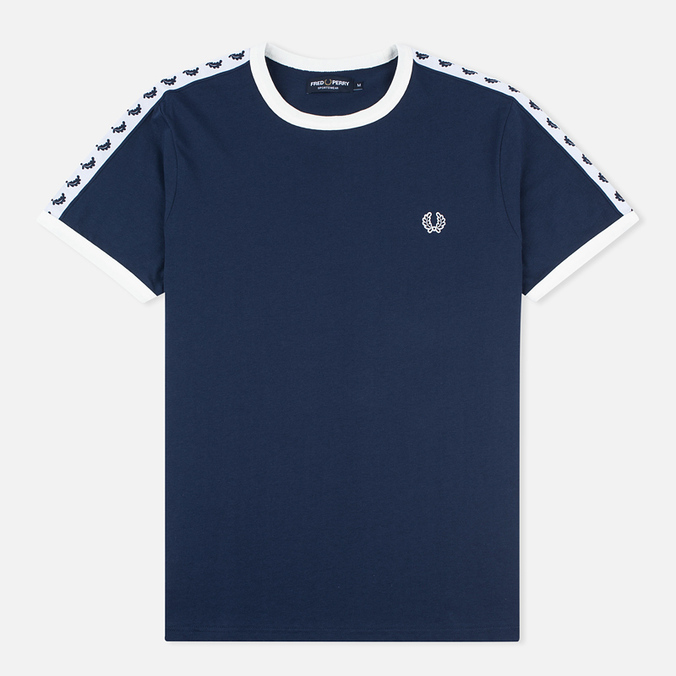 Мужская футболка Fred Perry Taped Ringer Carbon Blue