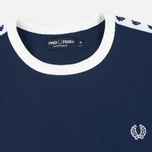 Мужская футболка Fred Perry Taped Ringer Carbon Blue фото- 1