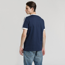Мужская футболка Fred Perry Taped Ringer Carbon Blue/White фото- 3