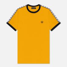 Мужская футболка Fred Perry Taped Ringer Gold фото- 0