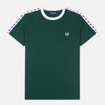 Fred Perry Taped Ringer Men's T-shirt Ivy photo- 0