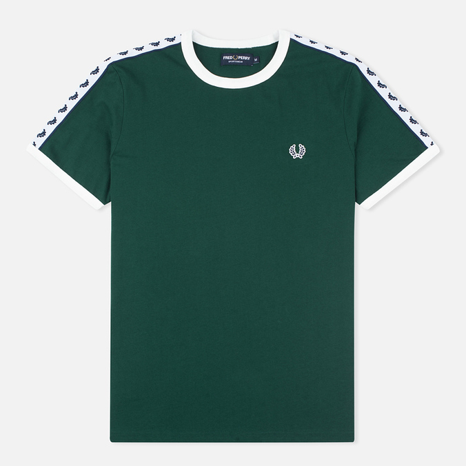 Fred Perry Taped Ringer Men's T-shirt Ivy