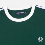 Fred Perry Taped Ringer Men's T-shirt Ivy photo- 1