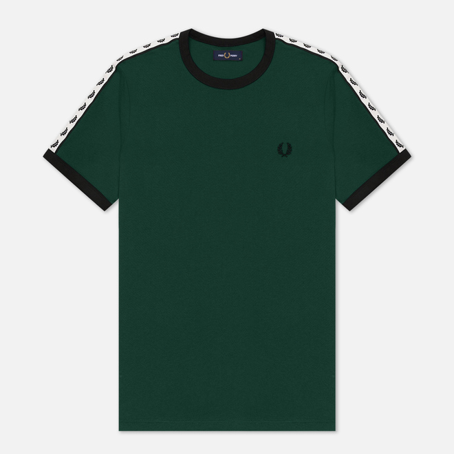 Мужская футболка Fred Perry Taped Ringer Ivy/White/Black