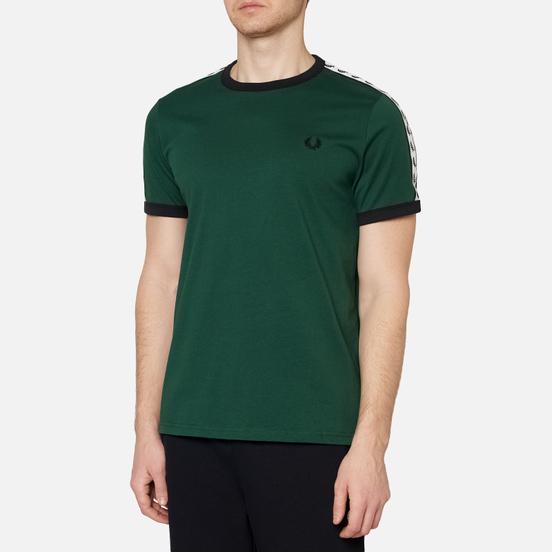Мужская футболка Fred Perry Taped Ringer Ivy/White/Black