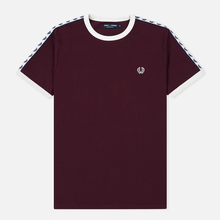 Мужская футболка Fred Perry Taped Ringer Mahogany