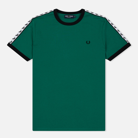 Мужская футболка Fred Perry Taped Ringer Pitch Green